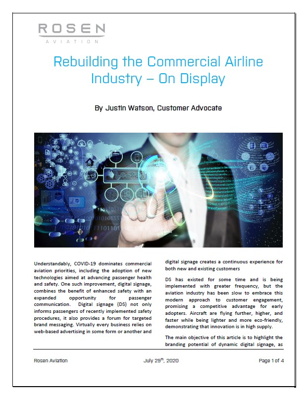 Rebuilding the Commercial Airline Industry – On Display