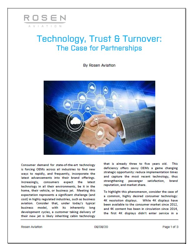"Supplier Selection – ""Technology, Trust and Turnover"""