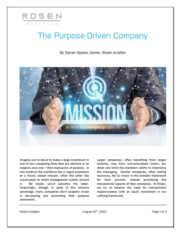 "Mission Driven – ""The Purpose-Driven Company"""